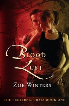 Cover for Blood Lust, by author, Zoe Winters